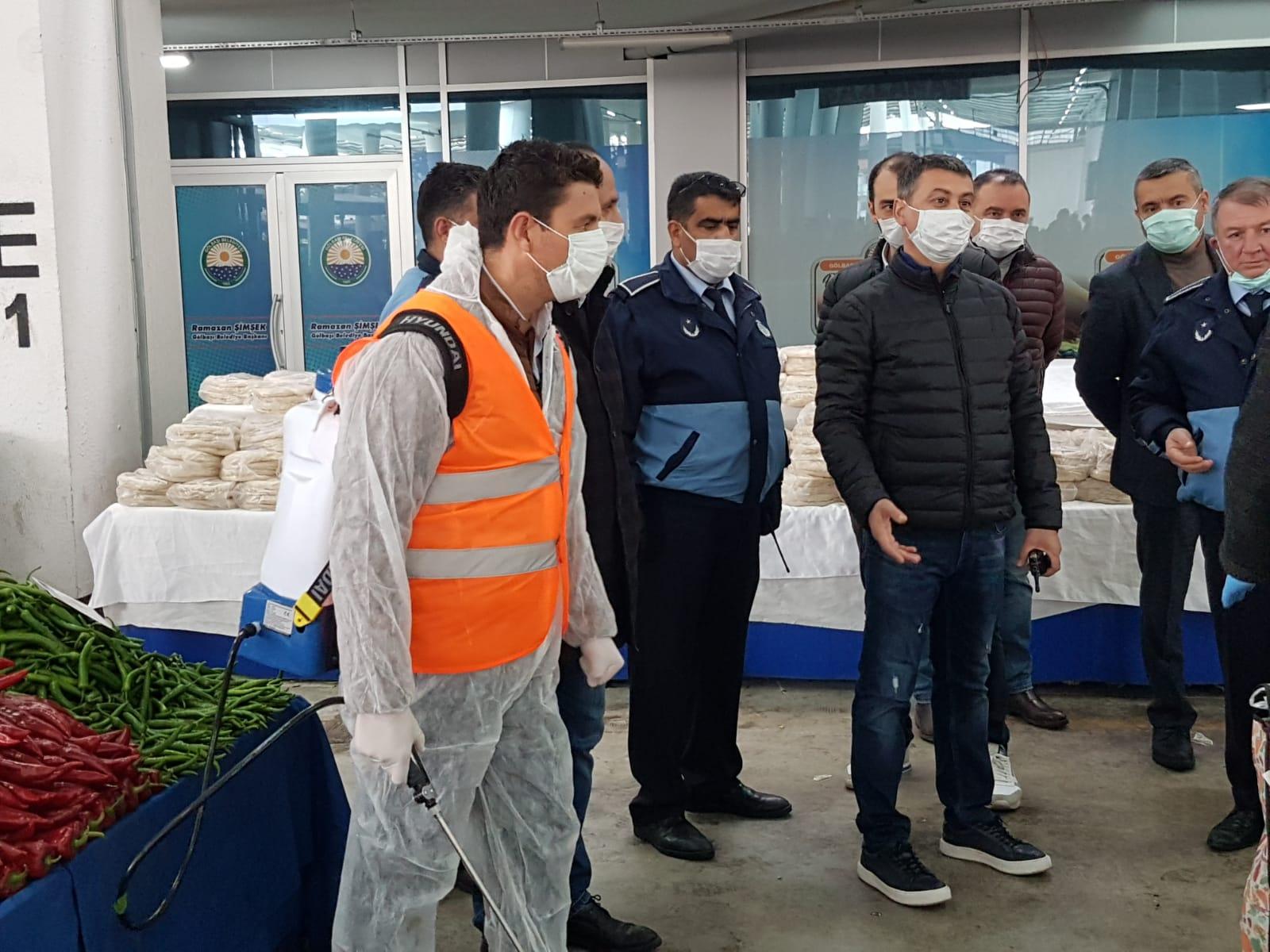 GöLBAŞI'NDA 'KORONAVİRüS' DENETİMLERi YAPILDI