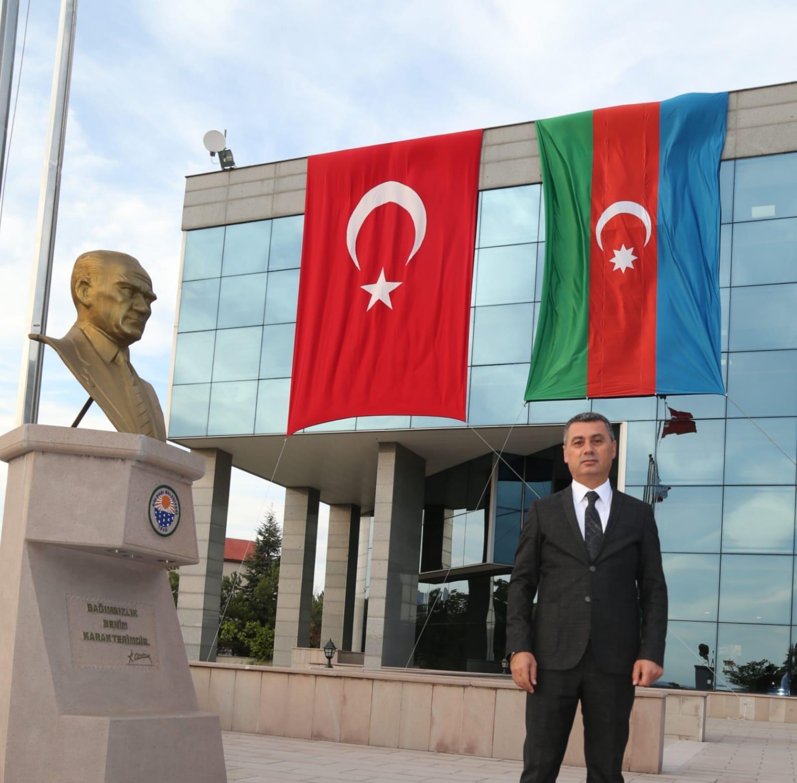 GÖLBAŞI BELEDİYE BAŞKANI RAMAZAN ŞİMŞEK'TEN AZERBAYCAN'A DESTEK