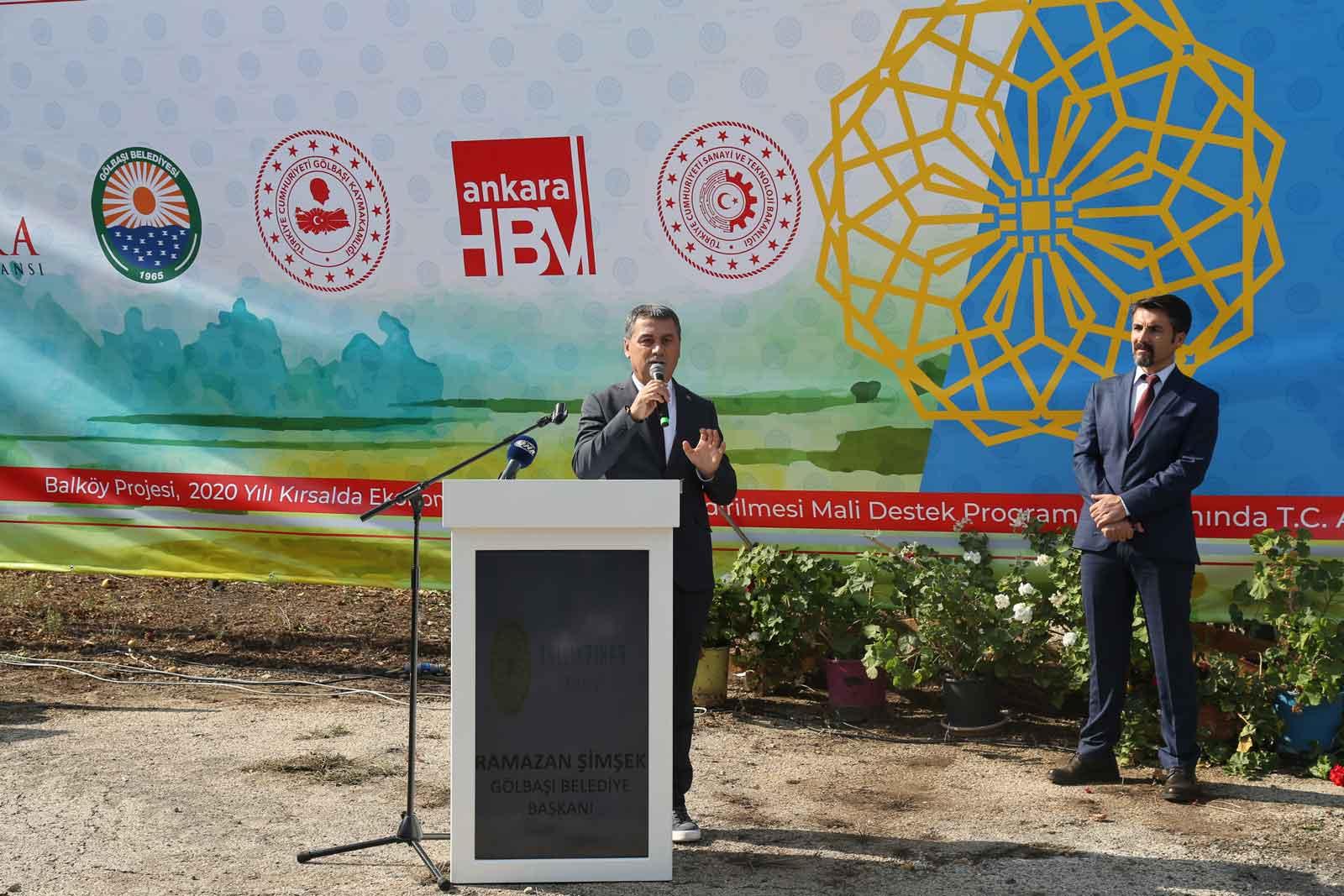 """Gölbaşı Kırsalı Kalkınma Projesi Olan """"Balköy Projesi""""ne Başladı"""