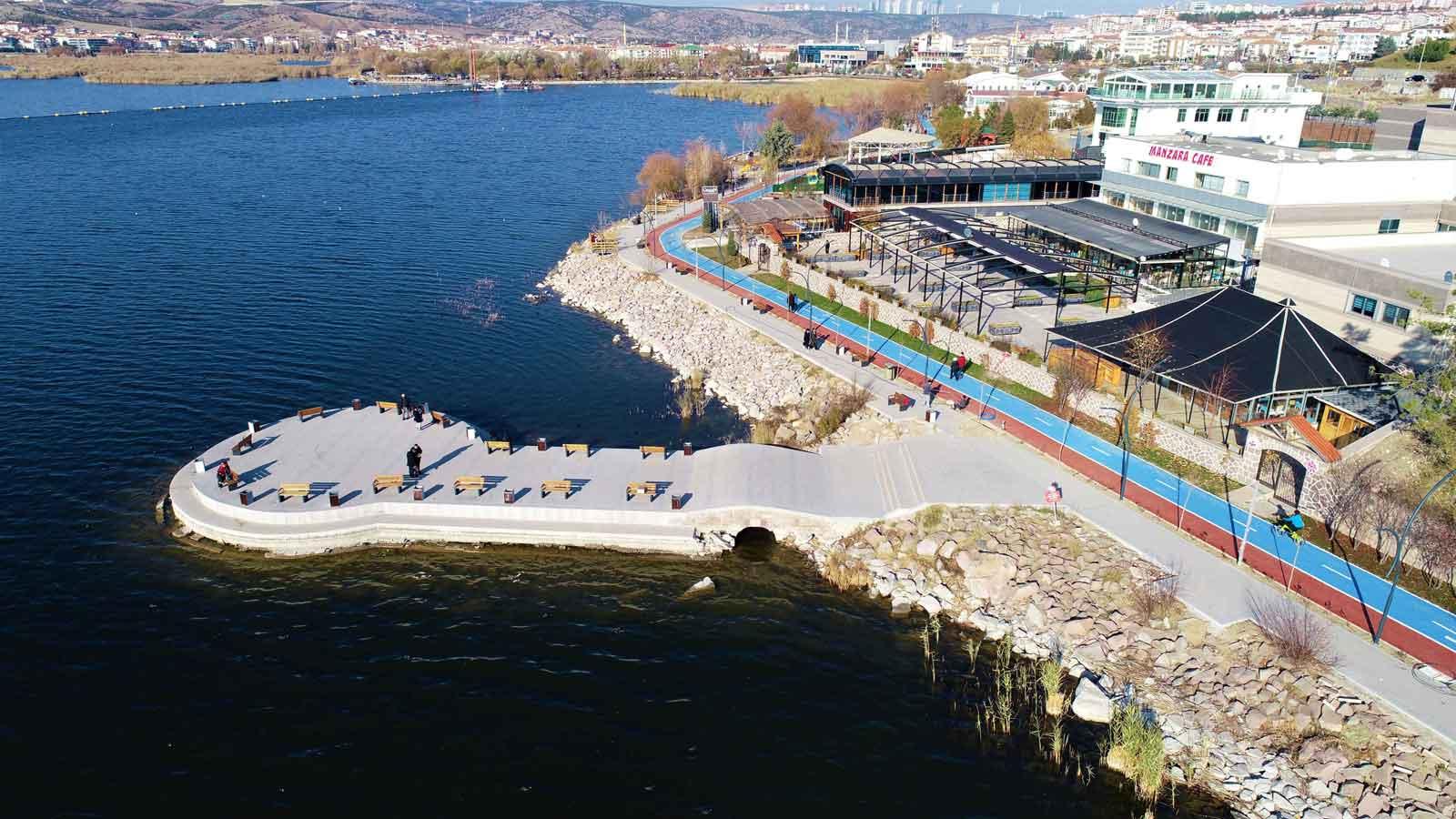Mogan Gölü Çevresi Rekreasyon ve Rehabilitasyon Projesi; 1. Etap Bisiklet ve Yürüyüş Yolu Projesi'nin 1.815 Metresi Tamamlandı